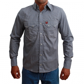 Camisa Masculina Os Vaqueiros Cinza