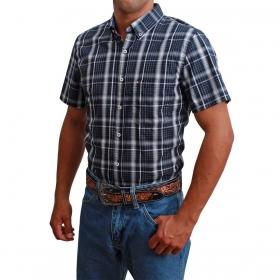 Camisa Masculina Riverton Manga Curta Azul Marinho