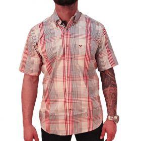 Camisa Masculina Xadrez Vermelho Tomahawk