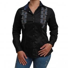 Camisa Os Vaqueiros Feminina Preta