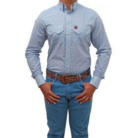 Camisa Os Vaqueiros Masculina Branca Detalhe Azul