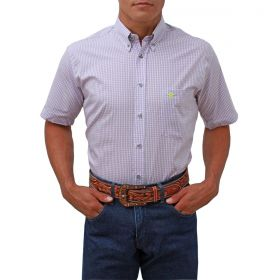 Camisa Tomahawk Masculina Xadrez Lilas