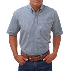 Camisa Tomahawk Masculina Xadrez Pequeno Preto
