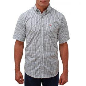 Camisa Tomahawk Masculina Xadrrez Preto e Cinza