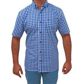 Camisa Tuff Manga Curta Xadrez Azul