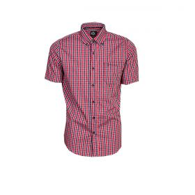 Camisa Tuff Manga Curta Xadrez Vermelho