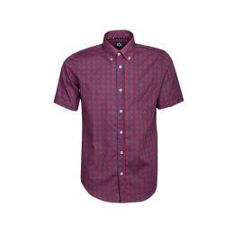 Camisa Tuff Manga Curta Xadrez Vinho