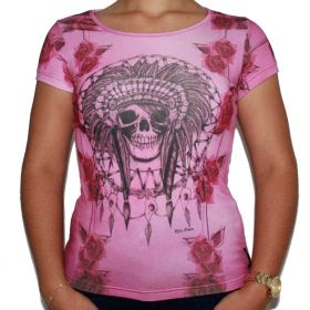 Camiseta Feminina Pink Ride Horse