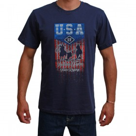 Camiseta Indian Farm Masculina Azul Marinho USA