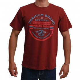 Camiseta Indian Farm Masculina Bordô Premium