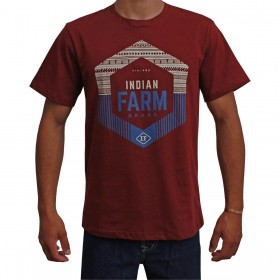 Camiseta Indian Farm Masculina Bordô Vintagen