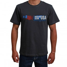 Camiseta Indian Farm Masculina Cinza Chumbo Texas IS