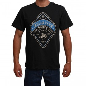 Camiseta Indian Farm Masculina Preta Rodeo