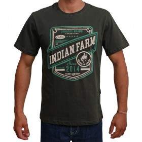 Camiseta Indian Farm Masculina Verde Musgo Original