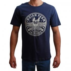 Camiseta Indian Farm Masculino Team Roping Azul Marinho