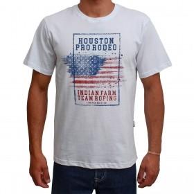 Camiseta Indian Farm Masulina Branca Pro Rodeo