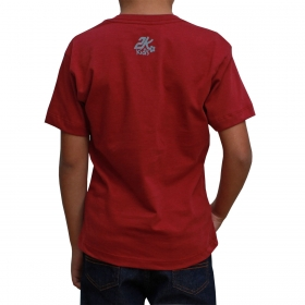 Camiseta Infantil 2K Jeans Bordô