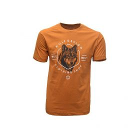 Camisa Tuff Masculina Cobre Lobo Wolf Desing Bronze