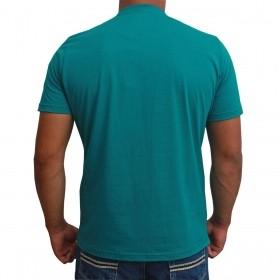 Camiseta Masculina Riverton Básica Turquesa