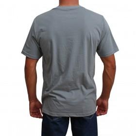 Camiseta Masculina Smith Brothers Cinza Logo Branco
