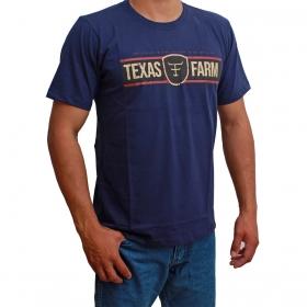 Camiseta Masculina Texas Farm Azul Marinho Field The