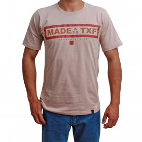 Camiseta Masculina Texas Farm Bege Made In The TXF