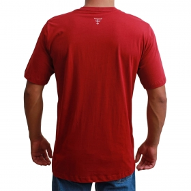 Camiseta Masculina Texas Farm Bordô Field Route
