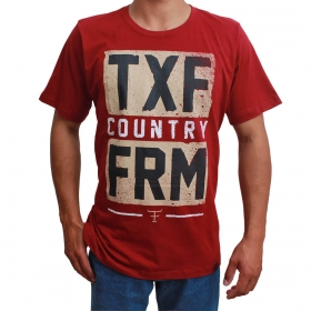 Camiseta Masculina Texas Farm Bordô TXF