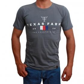 Camiseta Masculina Texas Farm Cinza The Country