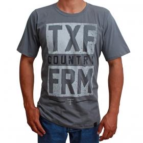 Camiseta Masculina Texas Farm Cinza Usa