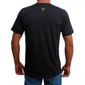 Camiseta Masculina Texas Farm Preta Logo Laranja