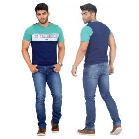 Camiseta Os Vaqueiros Masculina Verde e Azul