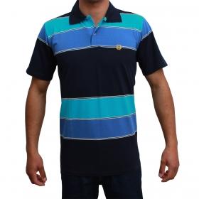 Camiseta Polo Classic Azul Listrada