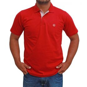 Camiseta Polo Classic Básica Vermelha