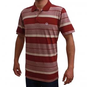 Camiseta Polo Classic Bordô Listrada