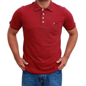 Camiseta Polo Os Vaueiros Bordô
