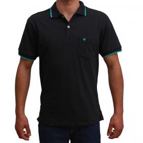 Camiseta Polo Wrangler Preto