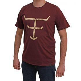 Camiseta Texas Farm Bordô Masculina