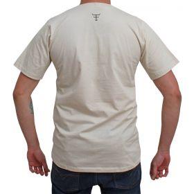 Camiseta Texas Farm Masculina Bege Estampa Militar