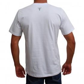 Camiseta Texas Farm Masculina Branca Logo Preto