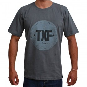 Camiseta Texas Farm Masculina Cinza Collection