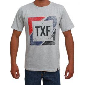 Camiseta Texas Farm Masculina Cinza Estampada