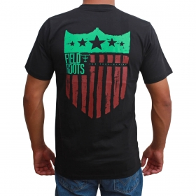Camiseta Texas Farm Preta Field Roots