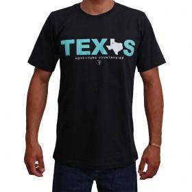 Camiseta Texas Farm Preta Masculina Adventure