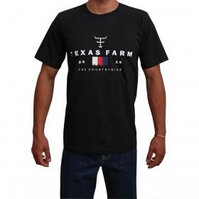 Camiseta Texas Farm Preta Masculina The Country