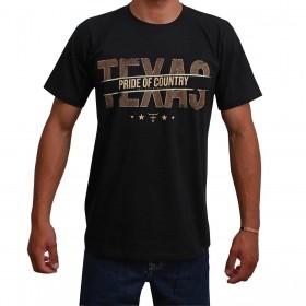 Camiseta Texas Farm Preta Pride Of Country