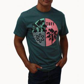Camiseta Tuff Masculina Verde Estampa Floral