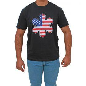 Camiseta Tuff Preta Com Logo Usa