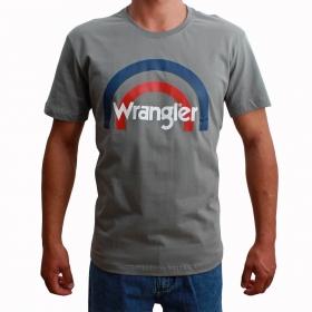 Camiseta Wrangler Cinza Com Logo