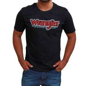 Camiseta Wrangler Masculina Preta